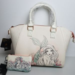 Loungefly Disney Ariel Sketch Satchel and Wallet